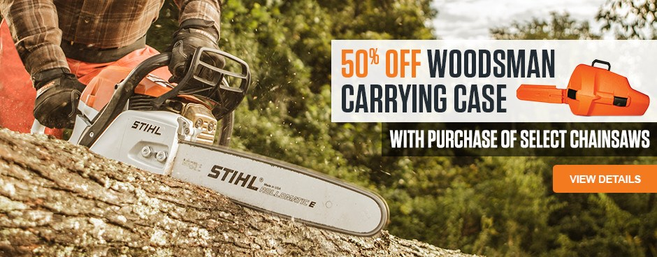 50% OFF Woodsman Carrying Case with select STIHL chainsaw purchase